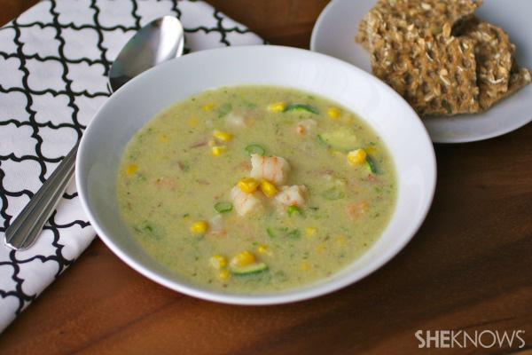 Sunday dinner: Shrimp and sweet corn chowder