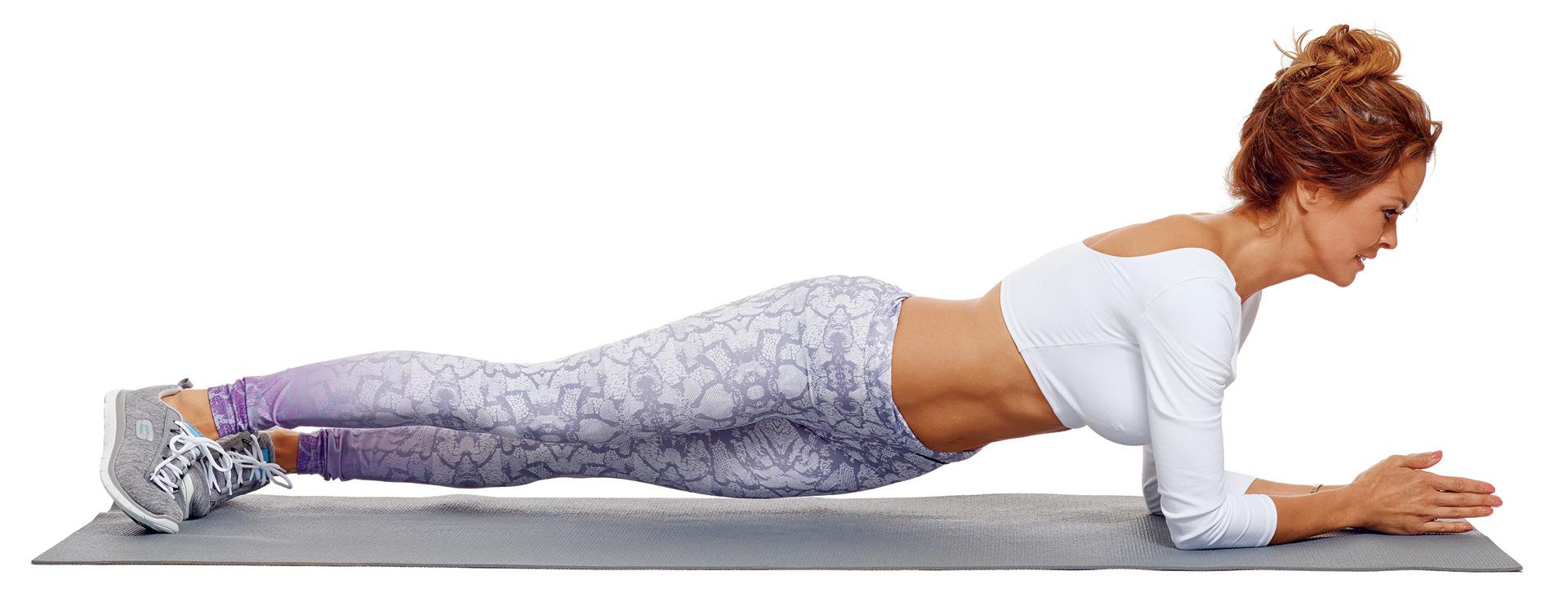 Brooke Burke's four-minute feel-the-burn ab burn workout