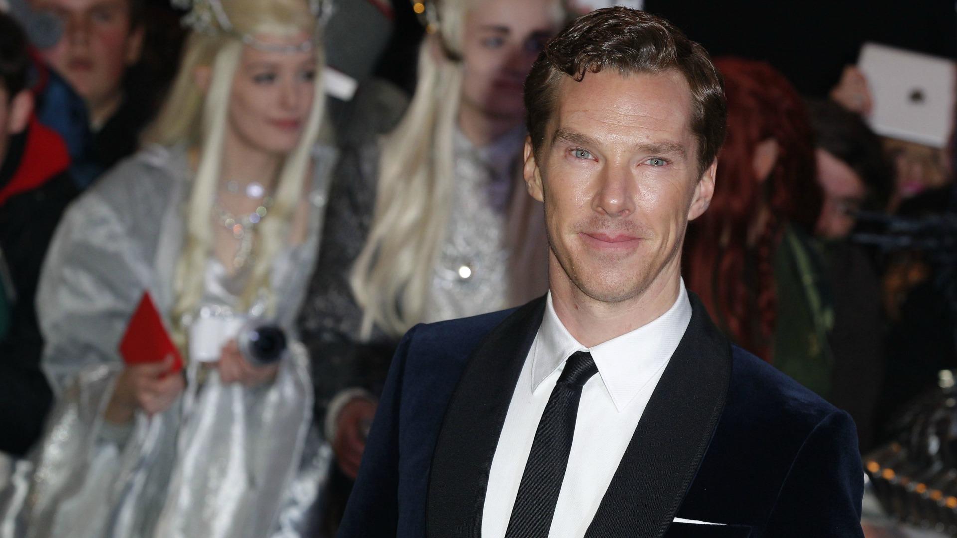 Benedict Cumberbatch at Hobbit premiere