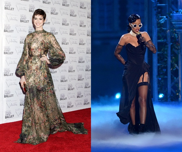 SNL host Anne Hathaway and guest Rihanna