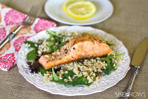 Sunday Dinner Warm Salmon Salad With Lemon Vinaigrette Sheknows