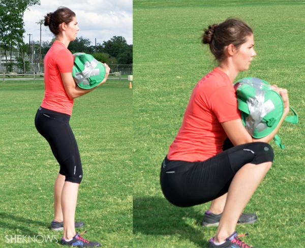 sandbag front squat