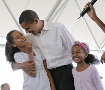 Obama and his girls