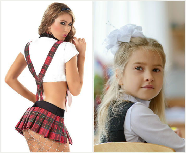Adorable schoolgirl