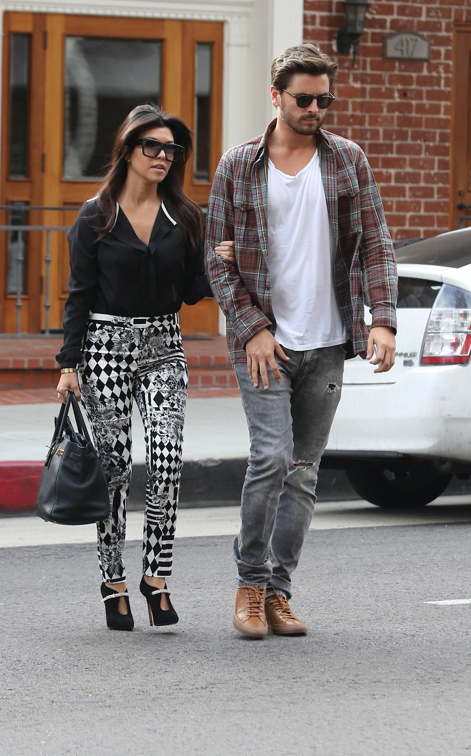 Scott Disick and Kourtney Kardashian out and about town