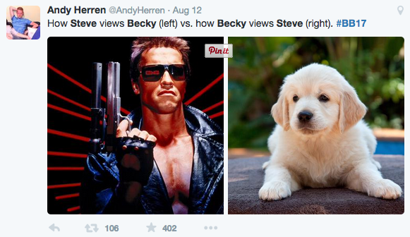 Becky vs. Steve tweet