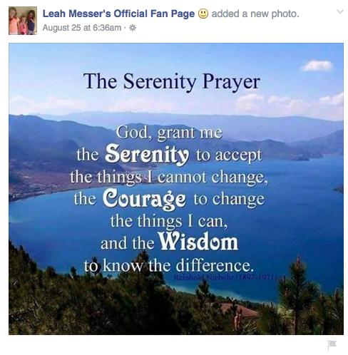 Leah Messer Facebook prayer