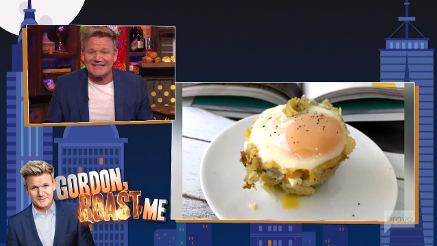 Gordon Ramsey roasts celeb food