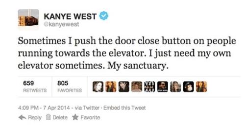 Kanye West reveals his sanctuary