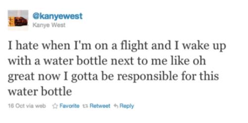 Kanye West's Water Bottle Wisdom