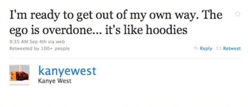 Kanye West Tweet About Egos and Hoodies