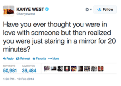 Kanye West on being in love with yourself
