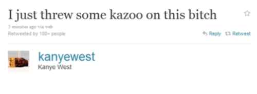 Kanye West adds some kazoo to his rap song