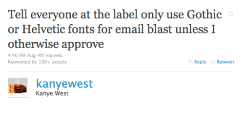 Kanye West is talking about fonts again