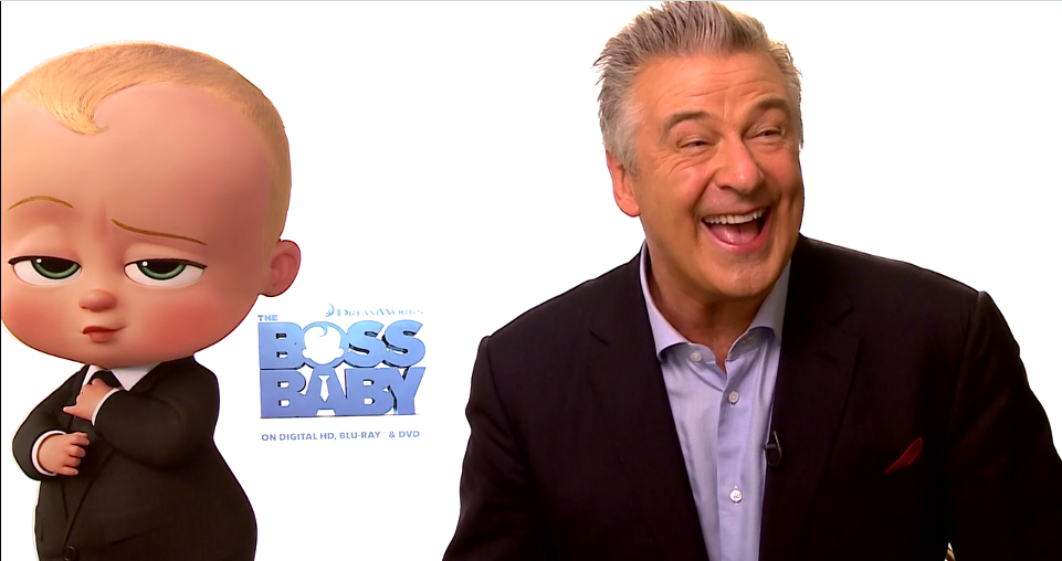 Alec Baldwin during SheKnow's Boss Baby interview