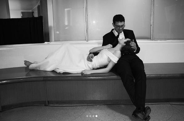 Emmy Rossum and Sam Esmail wedding