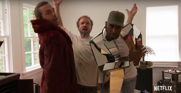 Karamo Brown rocks a mirror jacket in the Queer Eye Season 2 trailer