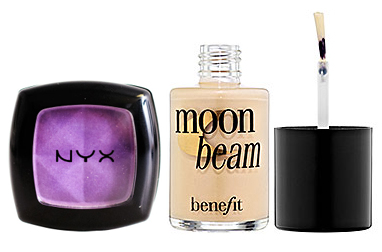 Sephora Moon Beam highlighted and NYX Sunrise eyeshadow