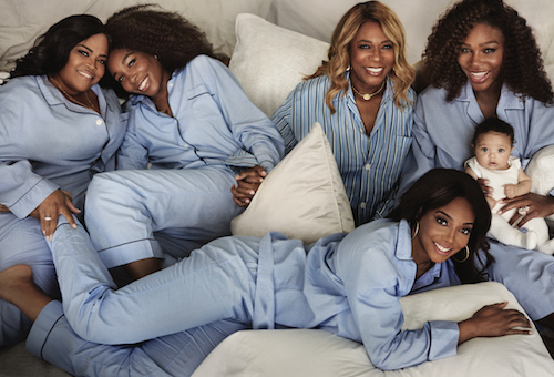 Serena Williams in Vogue with Family