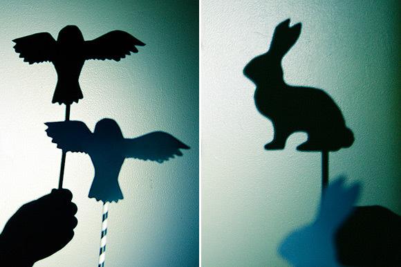 DIY shadow puppets
