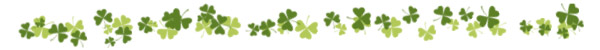 Look for shamrocks and clovers on St. Patrick's Day