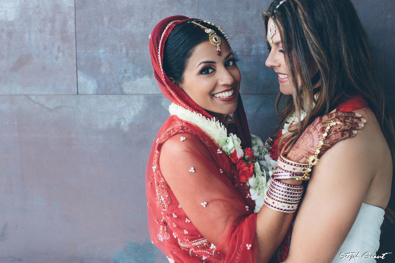 Shannon and Seema lesbian wedding