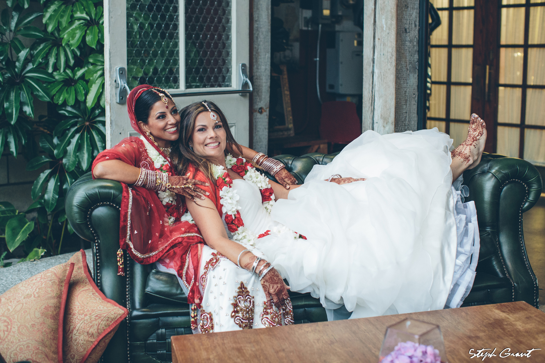 Shannon and Seema Indian culture lesbian wedding