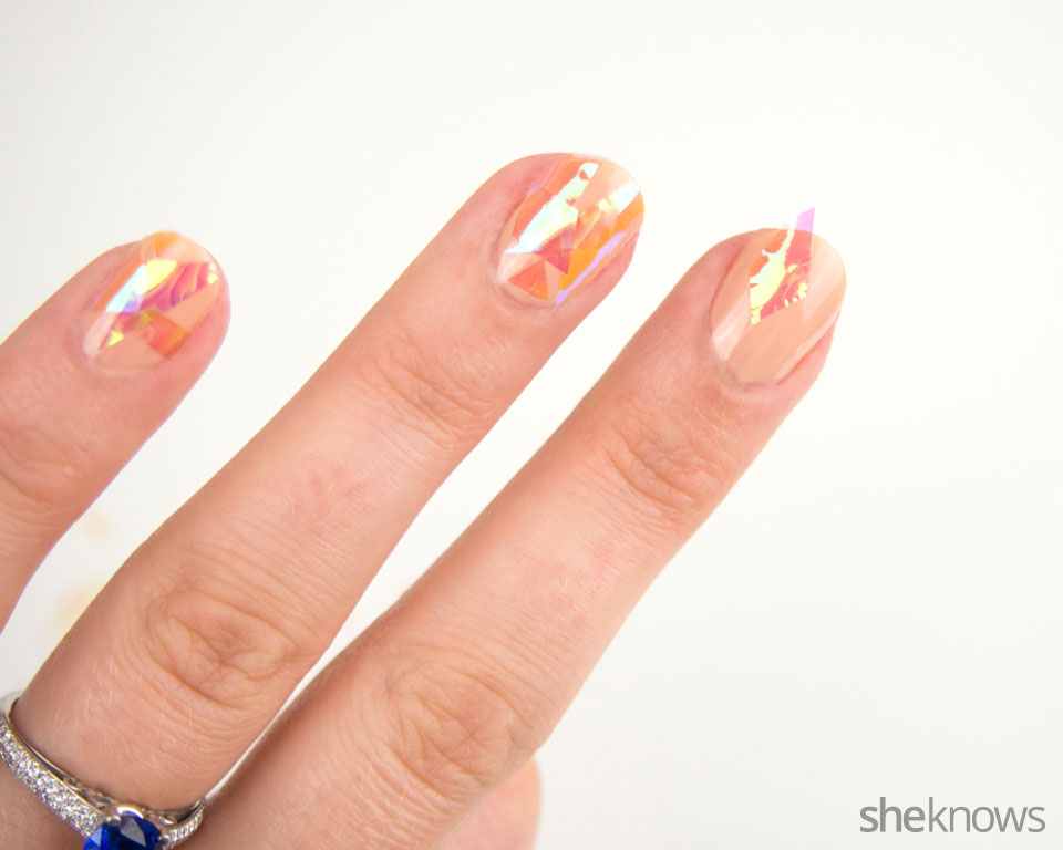 Shattered glass nail art: Step 3