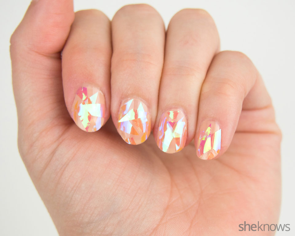 Shattered glass nail art: Step 4