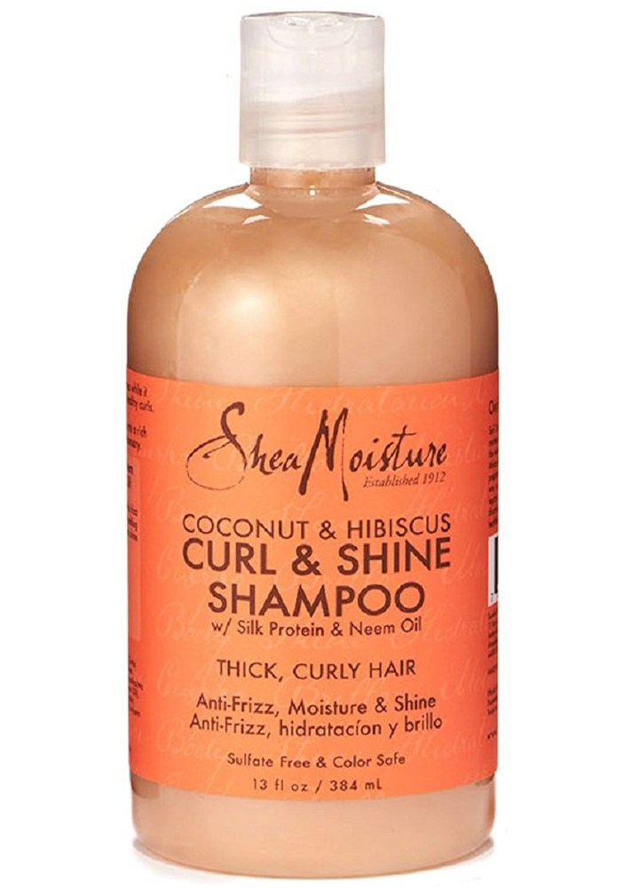 Best Shampoos That Actually Smooth Frizzy, Curly Hair: Shea Moisture Coconut & Hibiscus Curl & Shine Shampoo | Summer Hair Care 2017