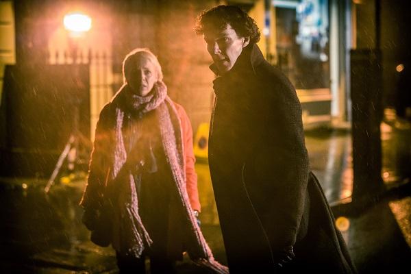 11 Sneak peek shots from Sherlock Season 3 -- Ben and fiance