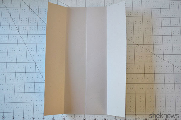Father's Day shirt card: Creating vertical folds