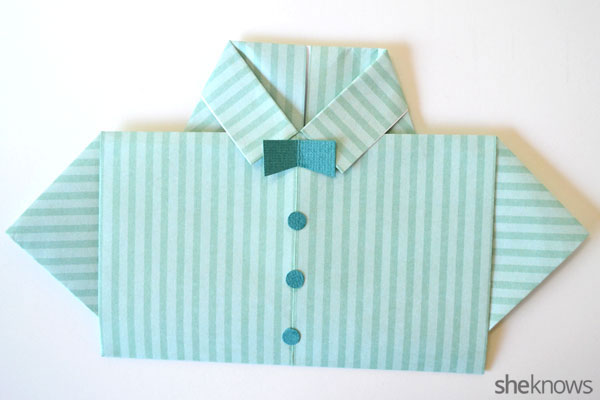 Father's Day shirt card: Bowtie and buttons