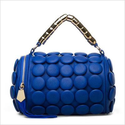 ShoeDazzle Fairbault Blue Mini Bag (shoedazzle.com, $40)