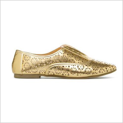 ShoeDazzle Signa Oxford in Gold
