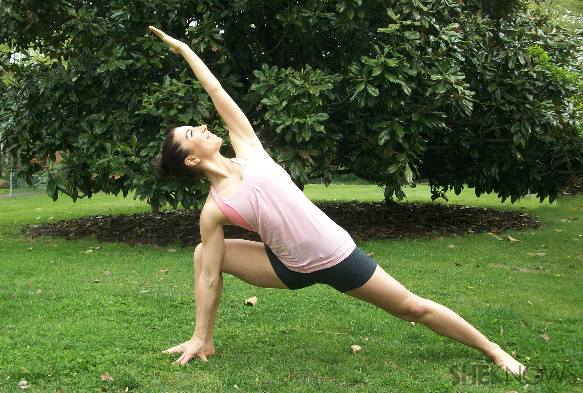 Yoga variations for side angle pose