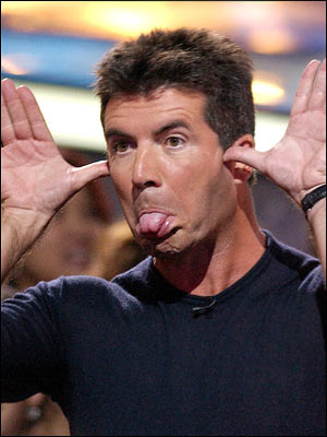 American Idol's Simon Cowell: always in a good mood