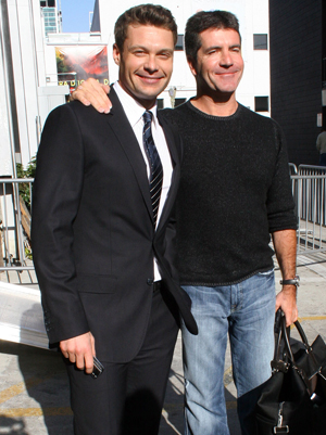 Simon and American Idol host Ryan Seacrest