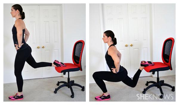 Single-leg balance lunge