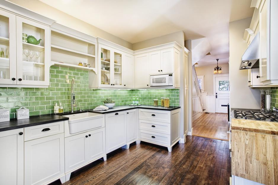New sink and faucet: Fireclay Tile http://porch.com/projects/kitchen-remodel-114?img=912898