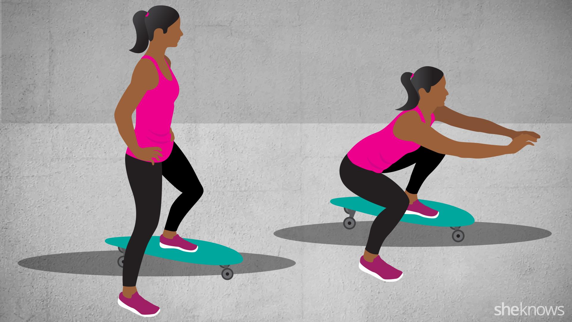 Unstable split squat