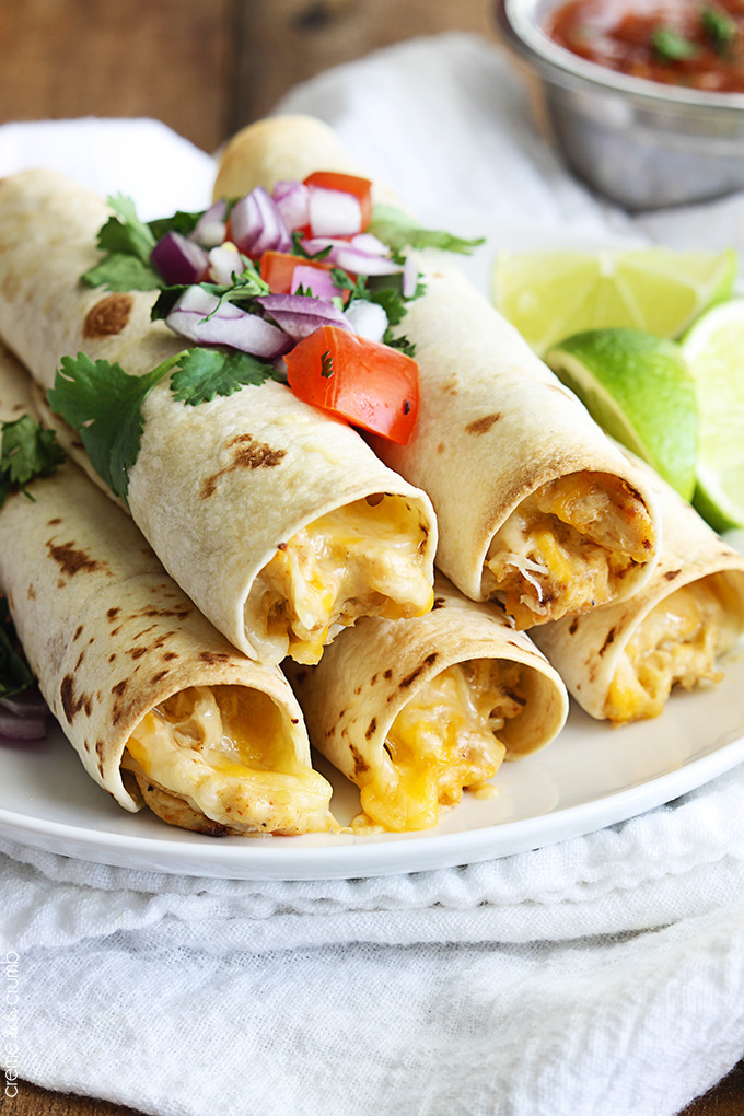 Slow cooker cream cheese taquitos