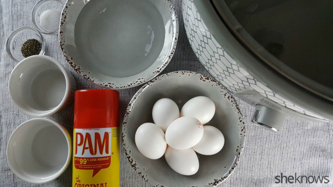 Slow-cooker poached egg ingredients