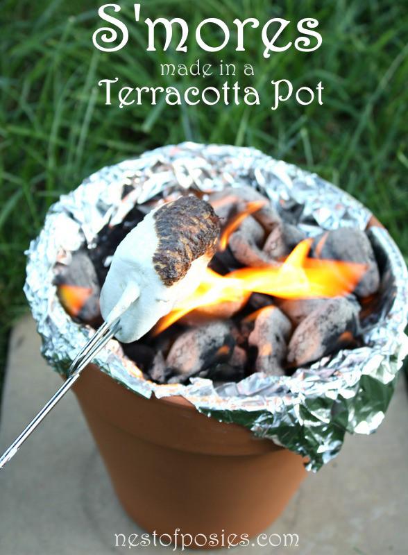 individual s'mores terra cotta pots