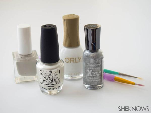 Snow leopard print nail design | Sheknows.com -- supplies