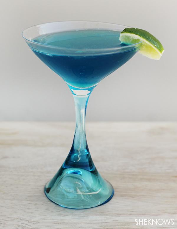 Something blue Signature wedding cocktail