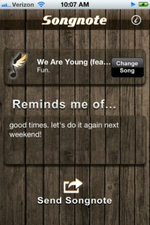 Songnote app