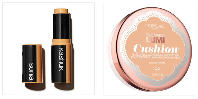 Sonia Kashuk Undetectable Foundation Stick or L'Oreal Paris True Match Lumi Cushion Foundation