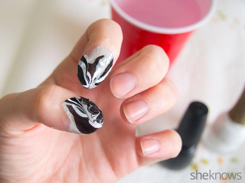 Ghostly spirit Halloween nails | SheKnows.com
