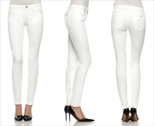 Stain repellent white jeans